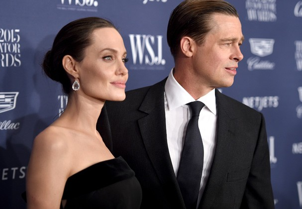 O casal Angelina e Brad Pitt (Foto: Getty Images)