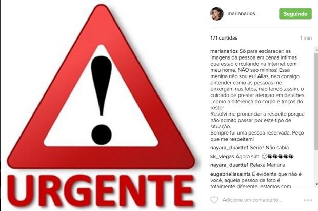 Post de Mariana Rios (Foto: Reprodução/Instagram)