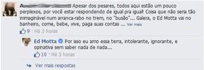Comentário no Facebook do Ed Motta (Foto: Facebook / Reprodução)