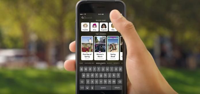 Stories in Search permite pesquisar por qualquer snap diário no app (Foto: Divulgação/Snapchat)
