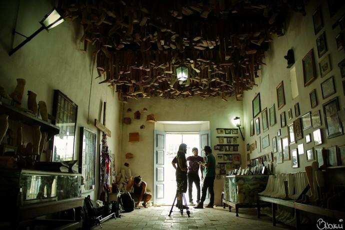 No Museu dos Ex-Votos a The Baggios inicia mais uma produção (Foto: Arquivo Pessoal/BNovelli)