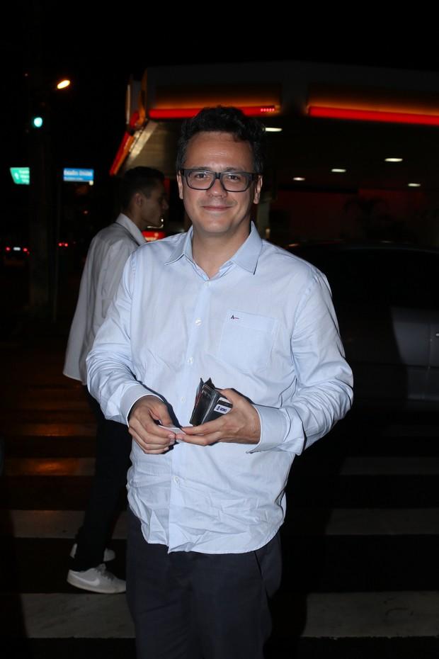 Danton Mello em festa de aniversário de Dani Calabresa no sábado, 14, em São Paulo (Foto: Thiago Duran/AgNews)