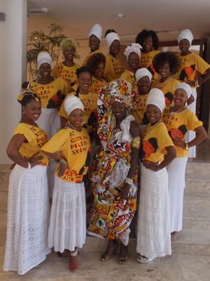 candidatas a deusa do ébano 2013 (Foto: Maiana Belo / G1)
