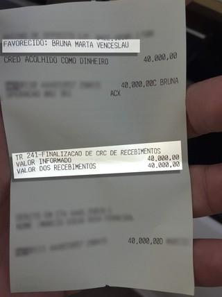 Documento deposito Bruna (Foto: Globoesporte.com)