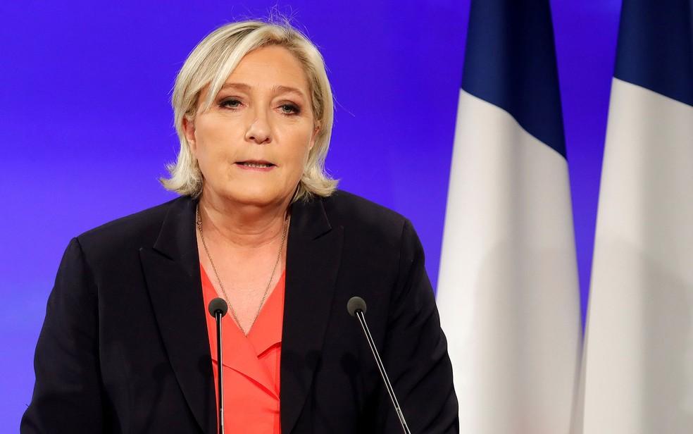 Apesar de votação recorde para seu partido, desempenho de Le Pen nas urnas ficou abaixo do esperado (Foto: Reuters/Charles Platiau)