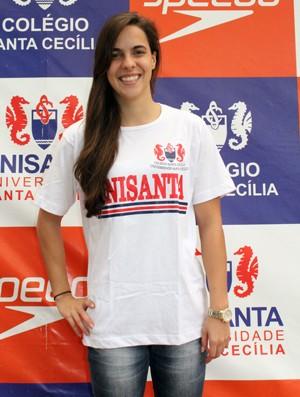 Carolina Penteado natação Unisanta (Foto: Divulgação / Unisanta)