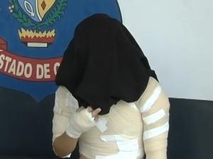 Suspeita fogo casal Goiás (Foto: Reprodução / TV Anhanguera)