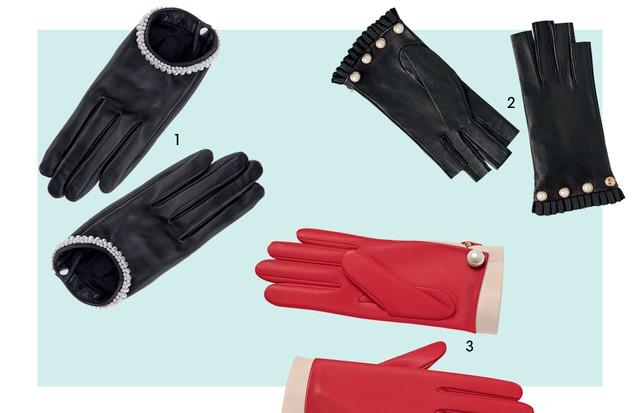 1. Causse € 418 2. Gucci R$ 2.860 3. Dior € 750 (Foto: Reprodução Vogue Russia Novembro de 2016 Página 202 e Divulgação)