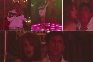 Tina e Steve protagonizam pole dance hilária no filme (Foto: reprodução/divulgação)