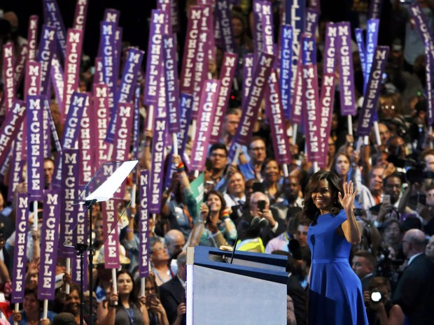 U.S. First lady Michelle Obama addresses the Democratic National Convention in Philadelphia, Pennsylvania, U.S. July 25, 2016. (Foto: Scott Audette/Reuters)