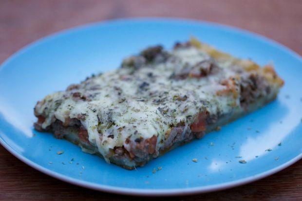 Pizza de batata com carne moda (Foto: Divulgao / Tempero de Famlia)