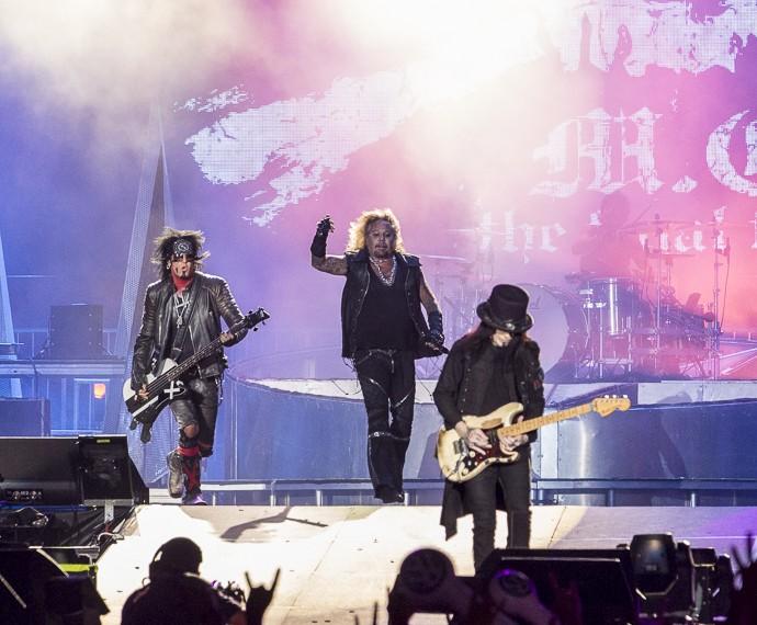 Banda Mötley Crüe no Palco Mundo (Foto: Felipe Monteiro/Gshow)