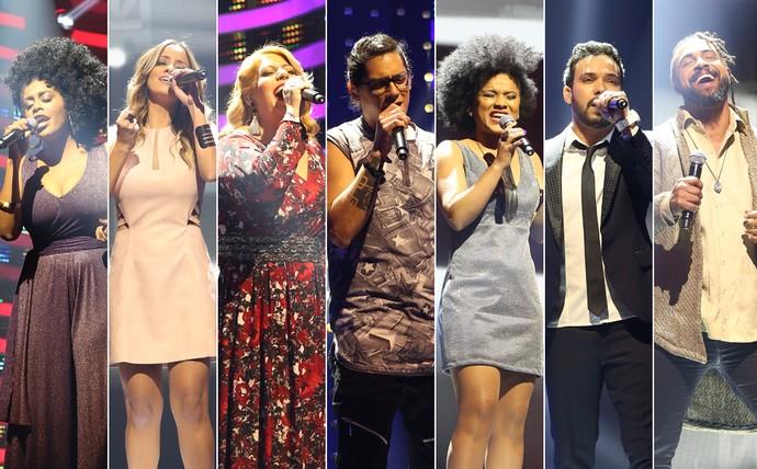 Sete cantores disputam a final do 'Iluminados' (Foto: Carol Caminha/Gshow)