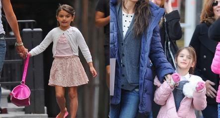 A filha de Tom Cruise e Katie Holmes adora moda e seu guarda-roupa está repleto de itens diversificados: de adoráveis vestidos com estampas coloridas a casacos, suéteres e calças leggings. Apesar dos 8 anos, a pequena Suri já inspirou um blog fashion com seu nome.  (Foto: Getty Images)