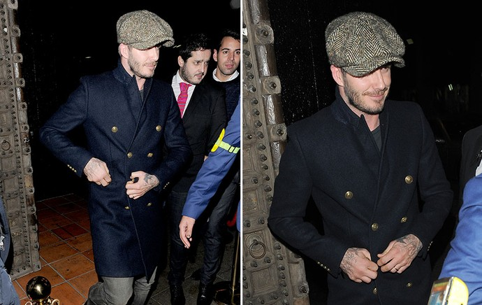 David Beckham na noite londrina (Foto: Splash News)