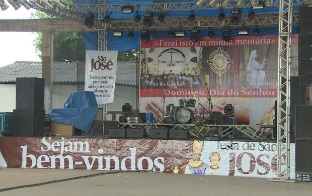 Show de forró cristão vai ocorrer na quadra da Igreja da Nossa Senhora da Conceição (Foto: Amapá TV)