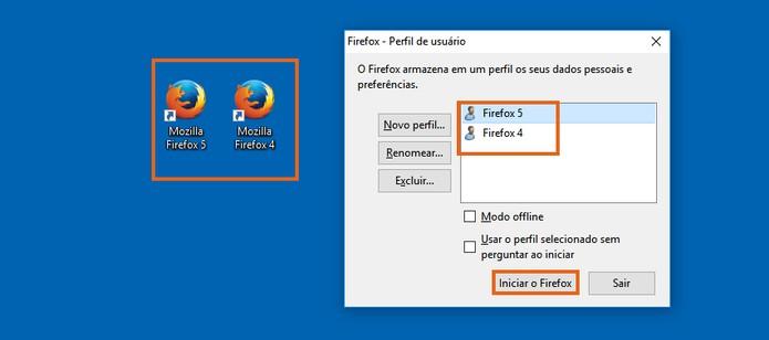 Abra cada Firefox com seu perfil respectivo (Foto: Reprodução/Barbara Mannara)
