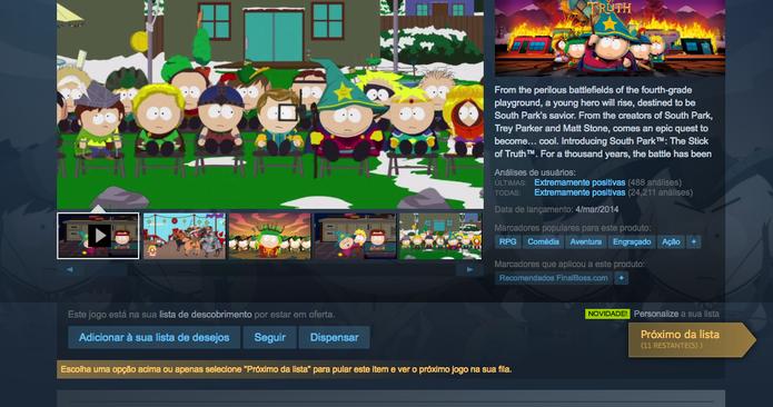 Continua descobrindo jogos na Summer Sale do Steam (Foto: Reprodução/Felipe Vinha)