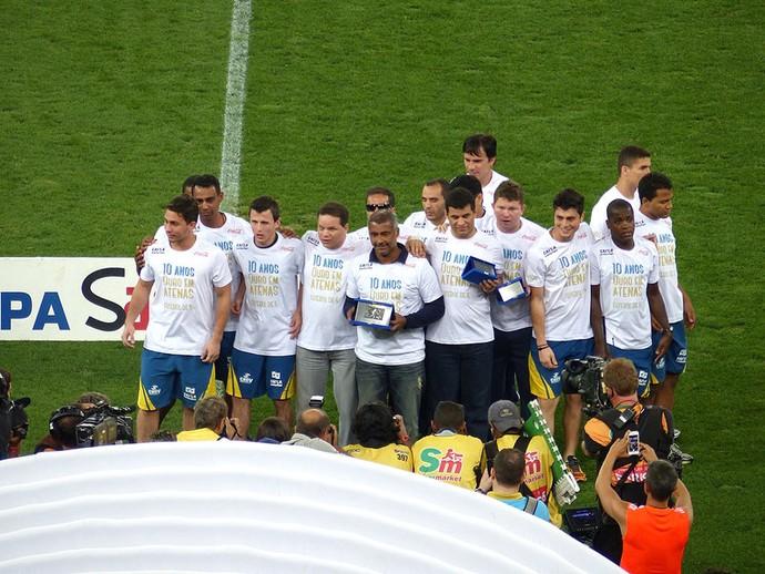 Romário com seleção de futebol de 5 (Foto: Cahê Mota)