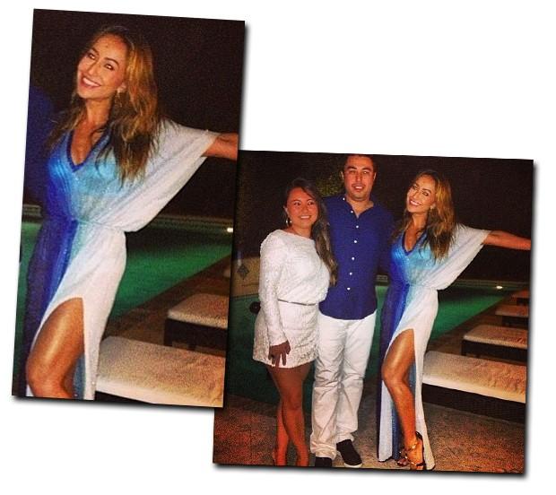 Sabrina Sato apostou no azul e na fenda poderosa para entrar em 2013 direto de Miami (Foto: Reprodução/Instagram)