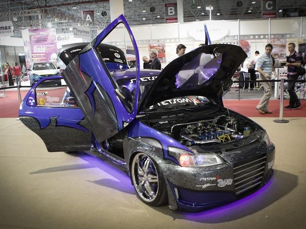 Chevrolet Celta tunado está no AutoEsporte ExpoShow (Foto: Caio Kenji/G1)