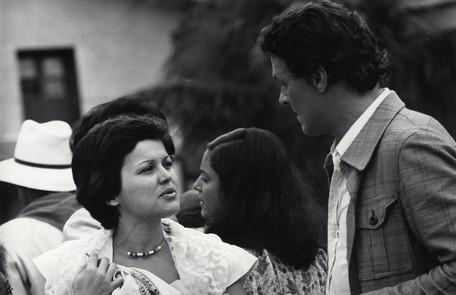 Marilia Barbosa contracena com Milton Moraes na novela. Ela era Bia, namorada de Nato Tavares, e ele, Carlito Prata Arquivo