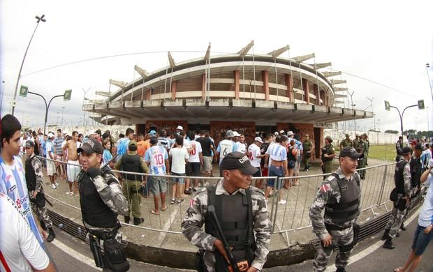 Polícia Militar garante policiamento para Paysandu e Palmeiras (Foto: Tarso Sarraf/O Liberal)