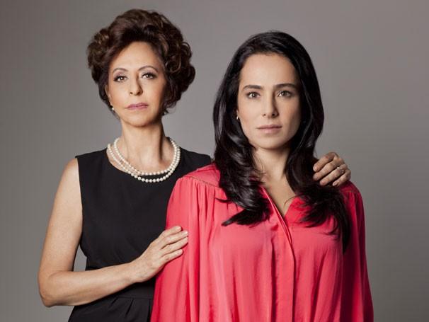 Stella Freitas e Cassia Linhares em cena de 'Querida Mamãe' (Foto: Divulgação)