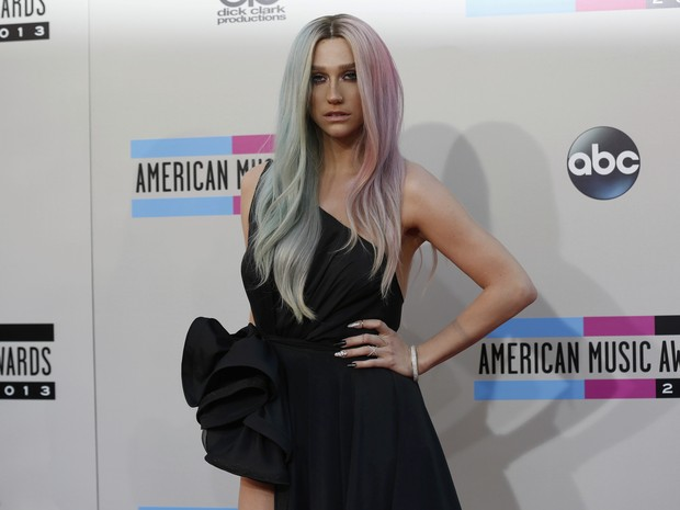 Ke$ha no American Music Awards em Los Angeles, nos Estados Unidos (Foto: Mario Anzuoni/ Reuters)