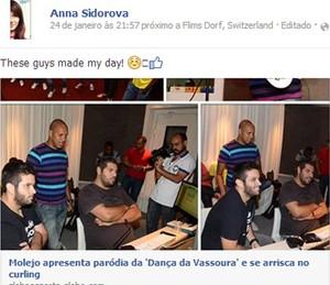 Sidorova post facebook molejo (Foto: Reprodução/Facebook)