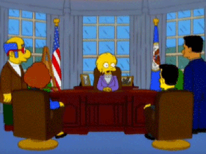 Em episódio de 2000, Lisa Simpson é eleita presidente e herda dívida de Donald Trump