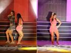 Ex-BBB Amanda mostra rebolado no palco com Ivete Sangalo; veja vídeo