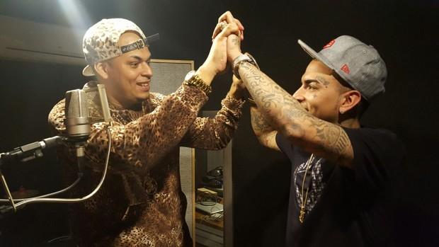 O pagodeiro Cacau Junior e MC Guimê (Foto: Arquivo Pessoal)