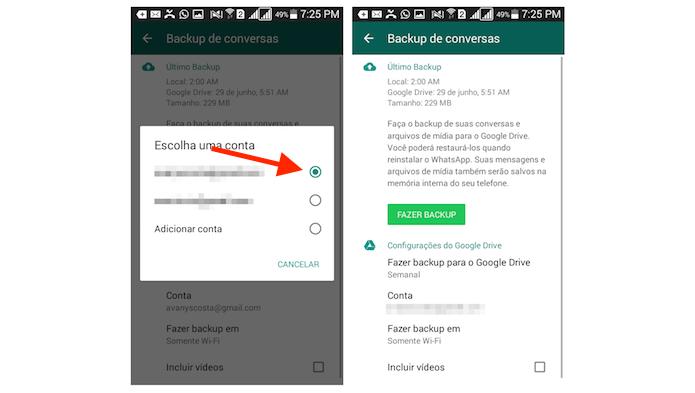 Finalizando a configuração de backups do WhatsApp com o Google Drive no Android (Foto: Reprodução/Marvin Costa)