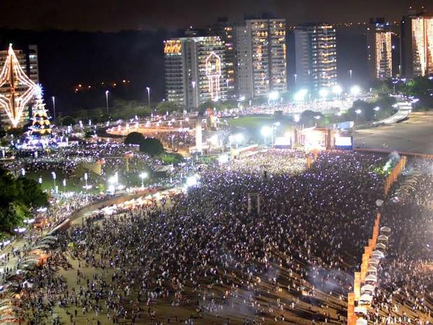 Evento na Ponta Negra reuniu cerca de 100 mil pessoas (Foto: Semcom/Divulgação)