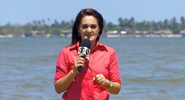 Carla Suzanne destaca a baixa vazão do São Francisco (Foto: Divulgação/TV Sergipe)