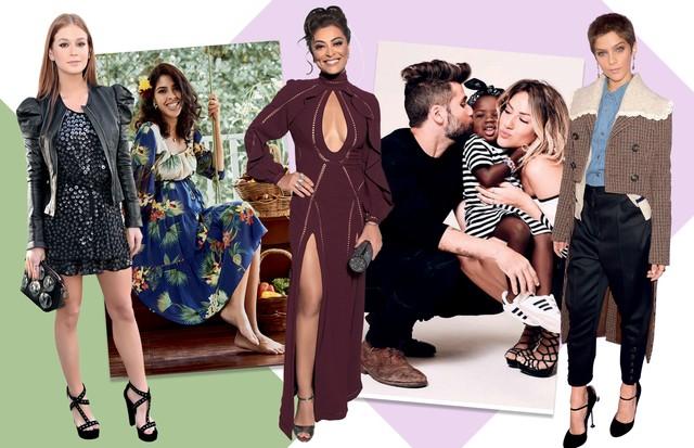 Marina Ruy Barbosa, Bela Gil, Juliana Paes, Chisomo Gagliasso e Isabella Santoni (Foto: Daniel Mattar/ Arquivo Vogue e Divulgação)