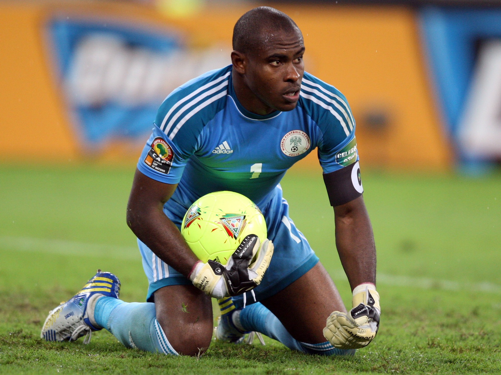 O experiente Vincent Enyeama é um dos principais nomes da Nigéria (Foto   Getty Images 180c3104efa30