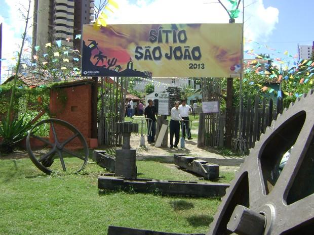 Sítio funcionará durante diariamente até o encerramento do São João de Campina Grande (Foto: Taiguara Rangel/G1)