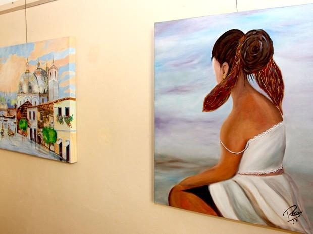 Exposição gratuita reúne desenhos, pinturas e poesia em Araraquara (Foto: Paulo Mantoanelli)
