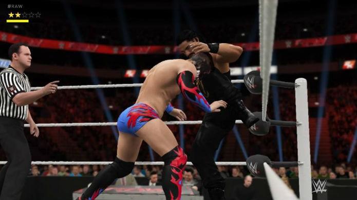 Em WWE 2K17, criar boas lutas importa mais do que vencer (Foto: Reprodução / Thomas Schulze)