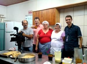 Equipe responsável pela série Viva Blumenau (Foto: Divulgação/RBS TV)