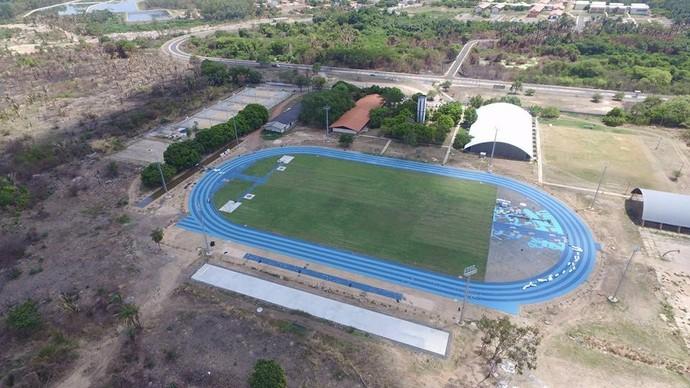 Pista de Atletismo da Ufpi  (Foto: Arquivo Pessoal/Sergio Galan )