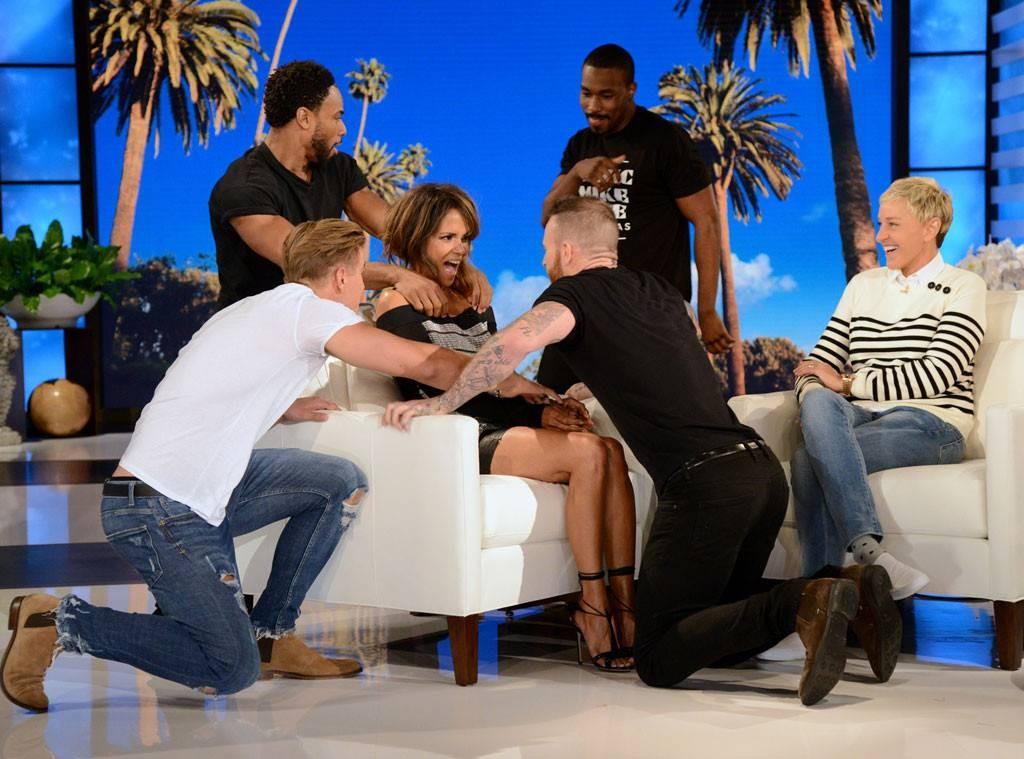 Halle Berry no programa da'Ellen DeGeneres (Foto: Reprodução)