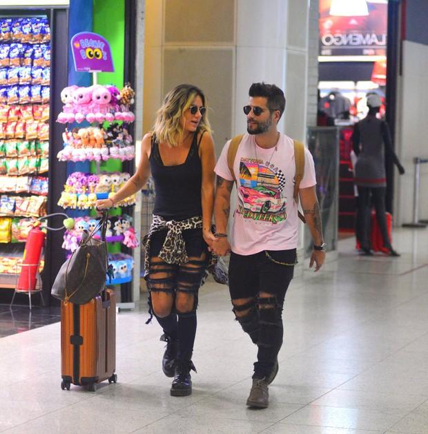 Bruno Gagliasso e Giovana Ewbanck  (Foto: William Oda / AgNews)