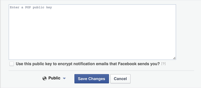 Facebook PGP (Foto: Reprodução/Facebook)