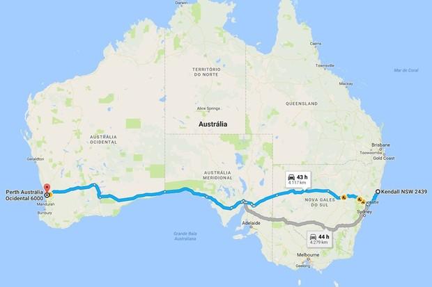 Adolescente pretendia atravessar a Austrália de leste a oeste (Foto: Google Maps)