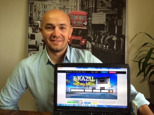 Matthew Parker lançou o Brazil Rent My House em 2013 (Foto: Divulgação)