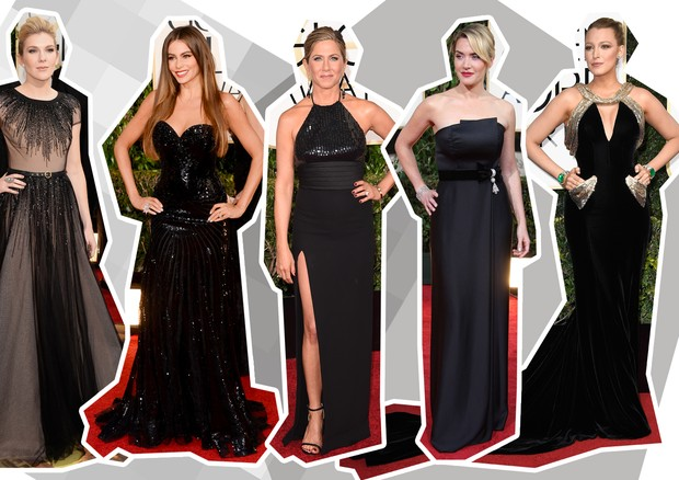 Vestidos preto no Golden Globes (Foto: Getty Images)