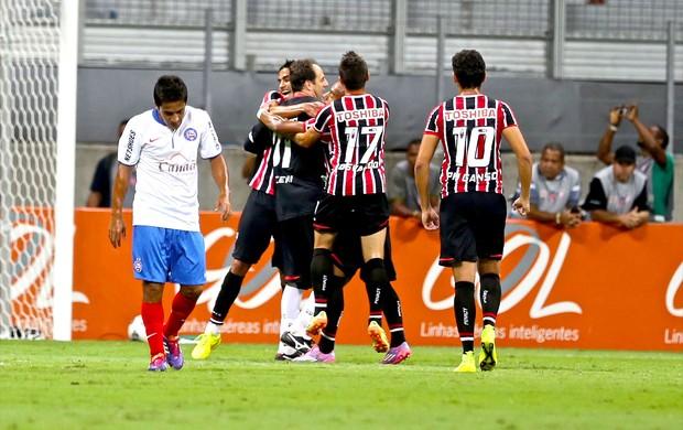 Rogério Ceni comemoração jogo São Paulo x Bahia (Foto: Vaner Casaes / Agência Estado)